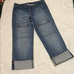 Banana Republic jeans , cuffed vintage jeans